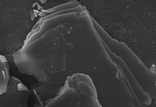 Electron Microscope Image of Talc Plates