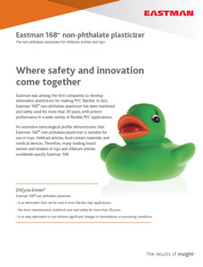 Eastman 168 the nonphthalate alternative for childcare articles and toys